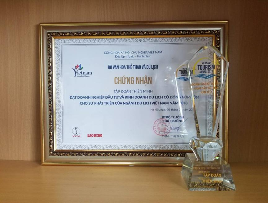 "Thien Minh Group achieved the ""Vietnam Tourism Award 2018"""